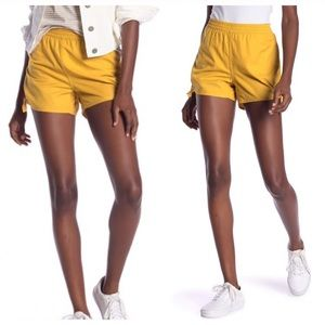 """Madewell """"Greek Gold"""" Side Tie Shorts Size XL"""